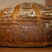 Vermont Sourdough with Increased Wholegrain—Underproofed Boule, Crust