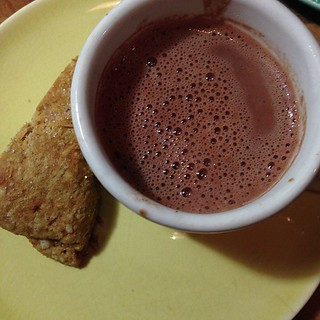 Homemade spelt scone & hot chocolate for Thanksgiving | by yougrowgirl