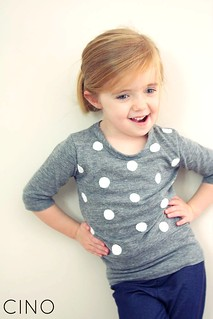 grey polka dot top | by Ressica Jachel