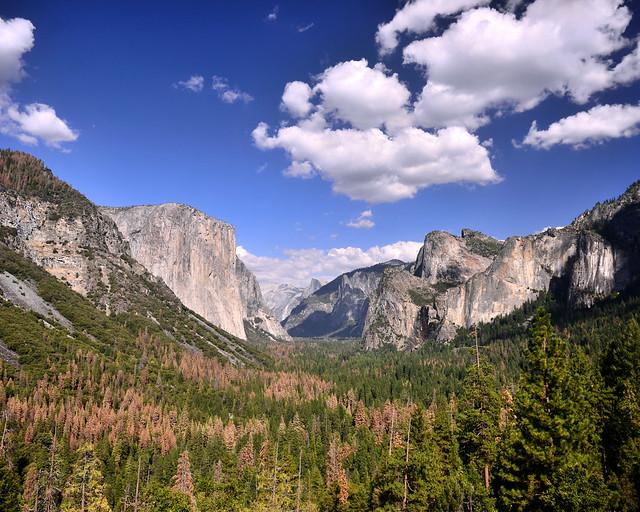 Uno de los mejores miradores que ver en la Costa Oeste de Estados Unidos, el Tunnel View de Yosemite