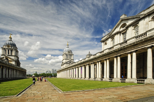 UK - London - Greenwich - Old Royal Naval College Courtyard axis | by Darrell Godliman