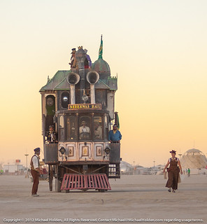 The Neverwas Haul Steampunk art car at Burning Man 2012 | by Michael Holden