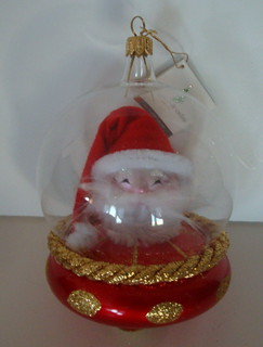 De Carlini Santa UFO Italian Glass Ornament | by SunnyDays2011