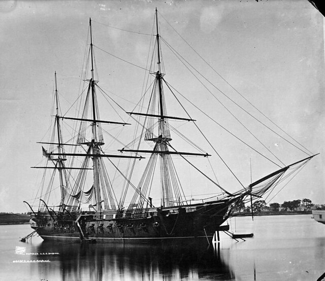 Sailing Frigate USS Sabine, circa 1890 to 1901 | Flickr ...