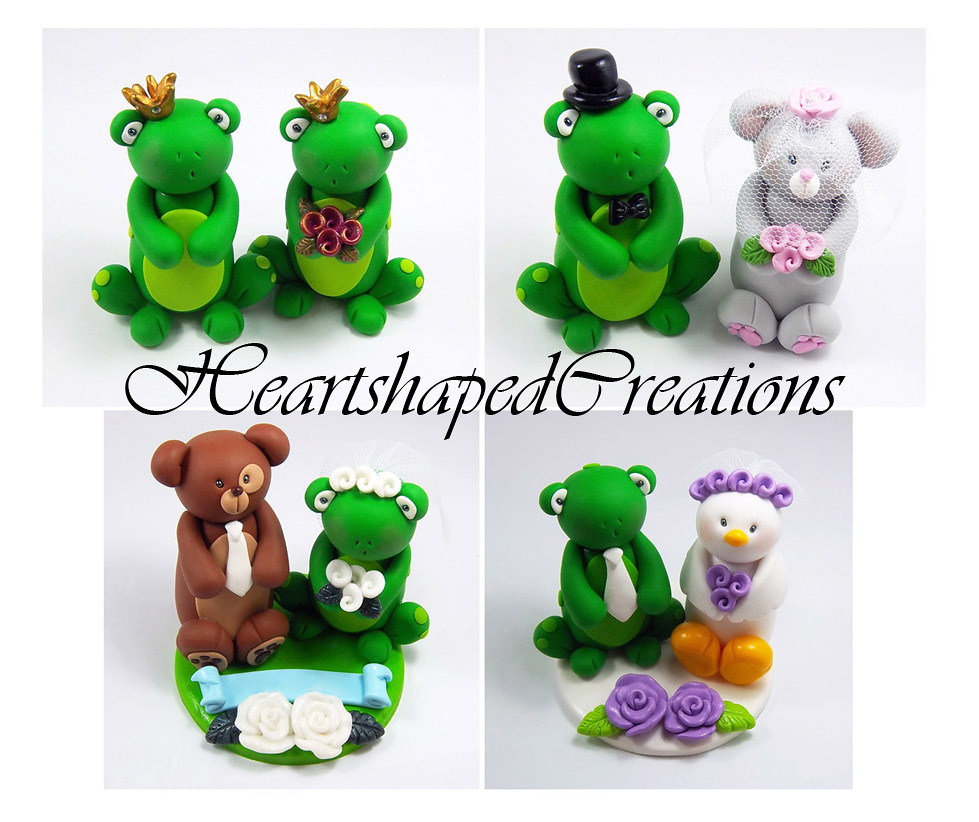 frog wedding cake toppers frog themed wedding cake toppers selection of wedding 14499