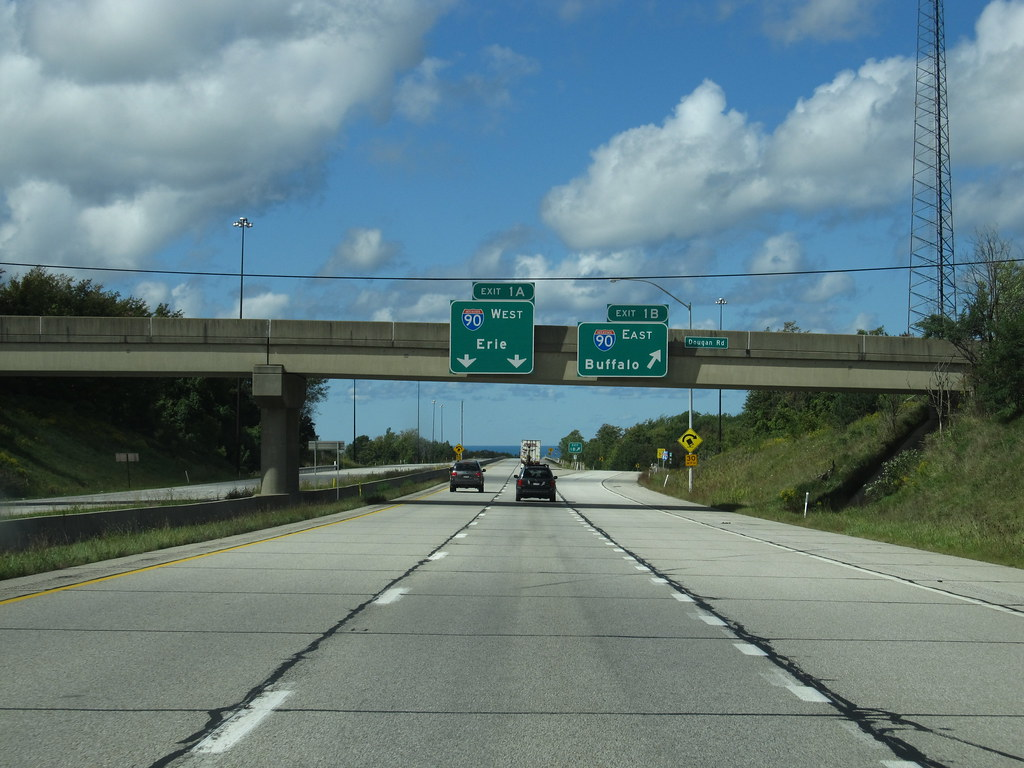 Intersection Of I 86 And I 90 Near Erie Pennsylvania