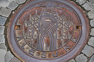 Art Nouveau manhole cover | by Travels with Kathleen