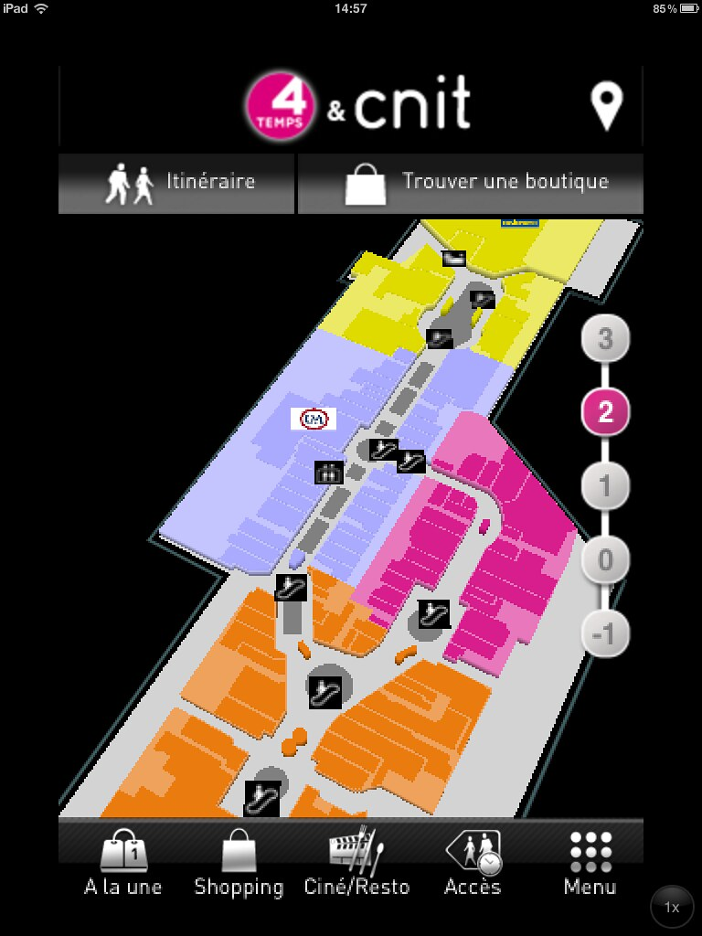 les 4 temps mall navigation map visioglobe 39 s pictures flickr. Black Bedroom Furniture Sets. Home Design Ideas