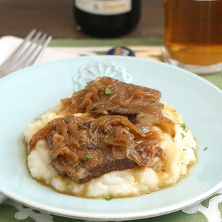 Beer-Braised Beef and Onions | by Tracey's Culinary Adventures