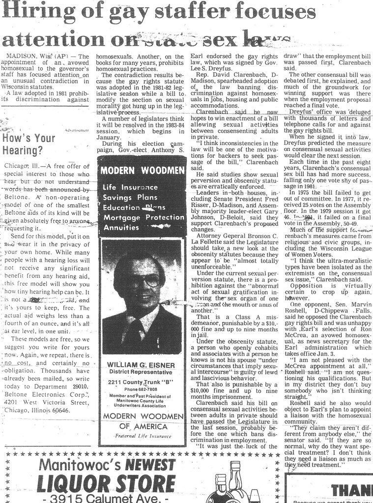Gay rights bill 1982