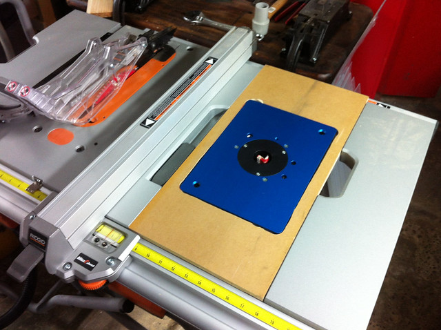 table saw extension router table