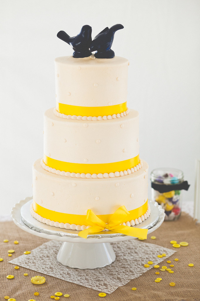 Yellow wedding cake tower | More here: www.lixximphotography… | Flickr