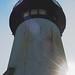 Yaquina Head lighthouse flare
