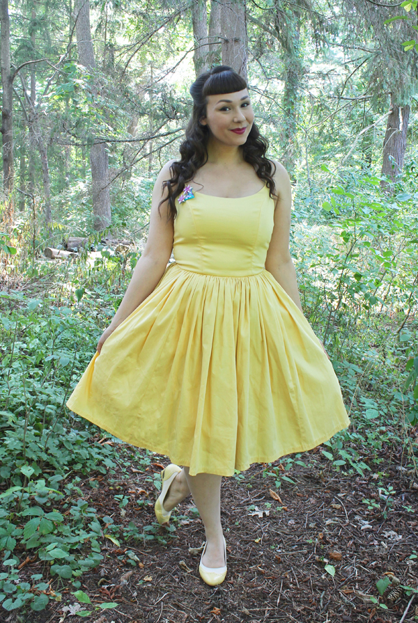 pinup girl clothing jenny dress yellow