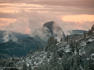 Snowy Olmsted Sunset (with Half Dome) | by Robin Black Photography