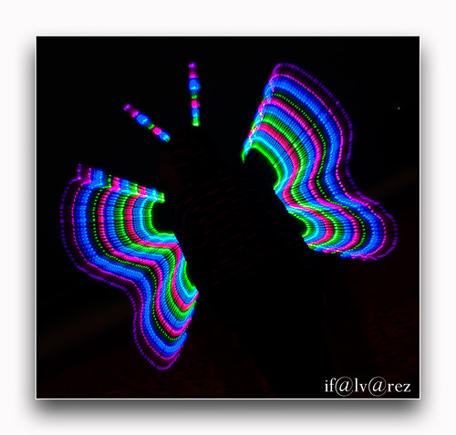 Mariposa-Light painting | by ifalvarez27