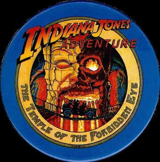 First Day Issue, Indiana Jones Adventure pin backed badge, button | by Dr. Disney Wizard