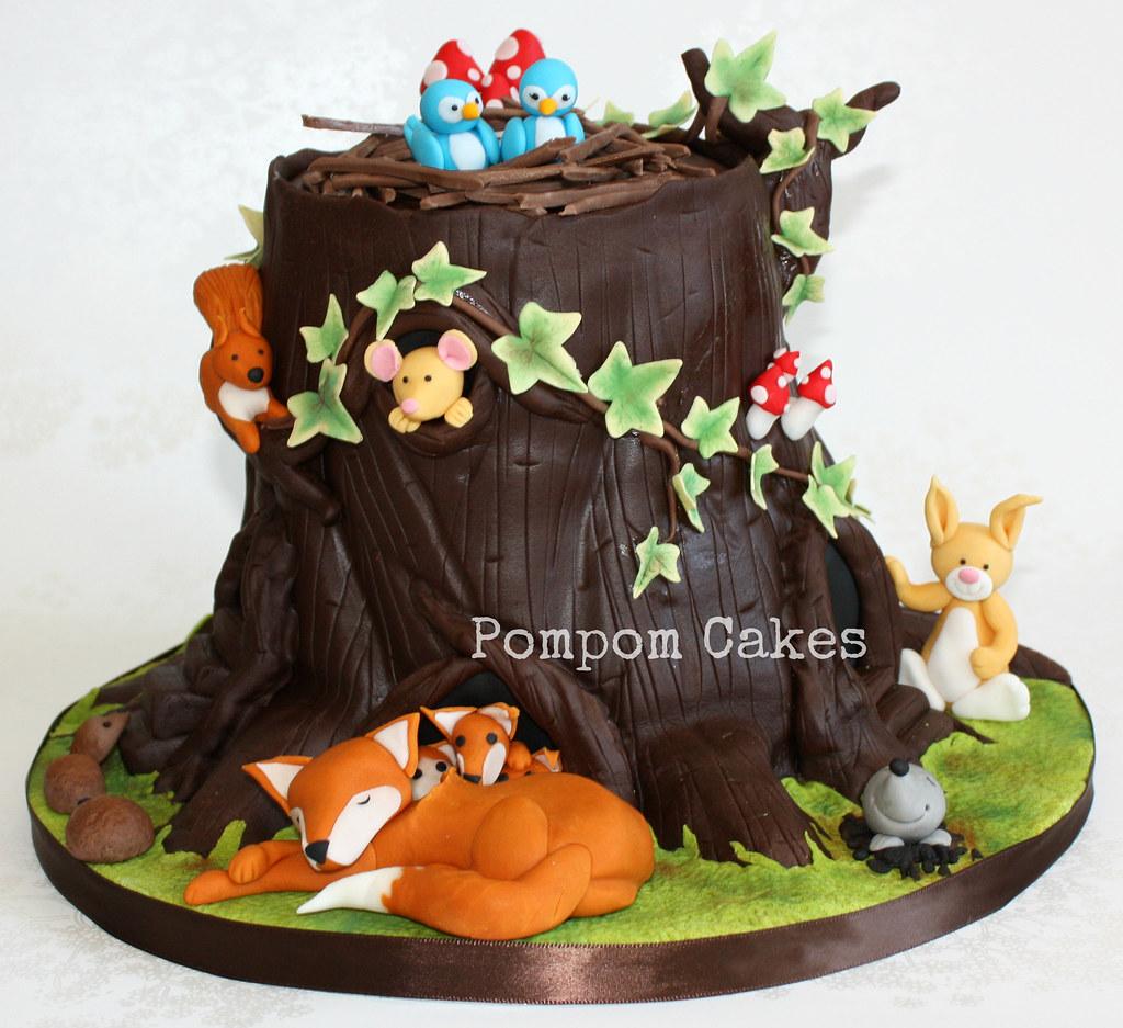 Woodland Shower Cake