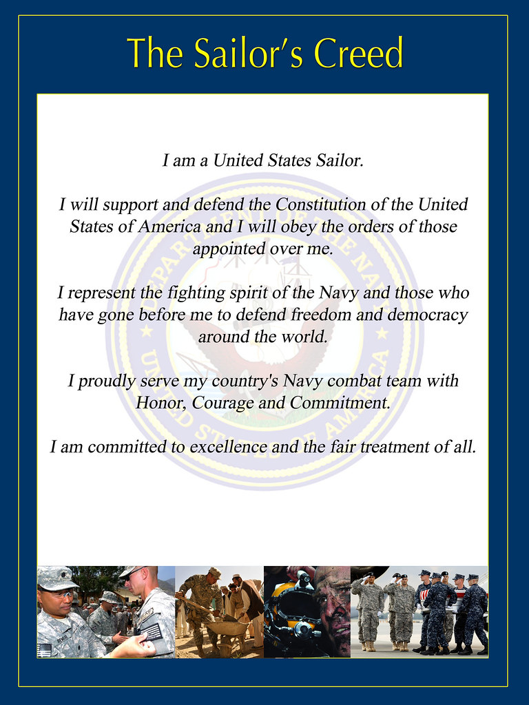 sailors creed by us naval forces central commandus fifth fleet