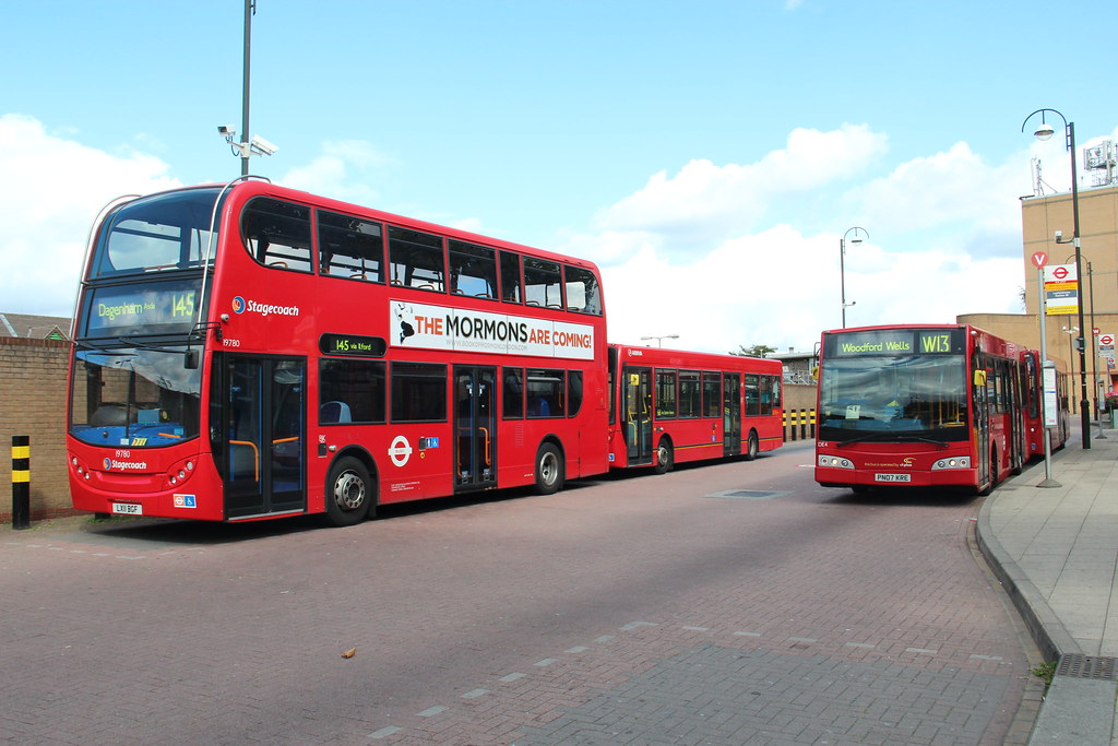Leytonstone Bus Station Captured In The Bus Station From