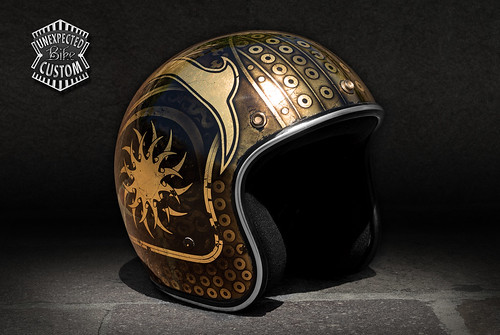 "Custom open face helmet ""Samurai"" 