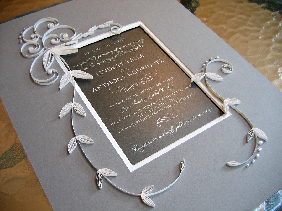 Quilled Wedding Invitation | Blogged: www.allthingspaper ...