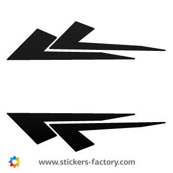 Tribal racing design sticker decal 01084 by stickers factory