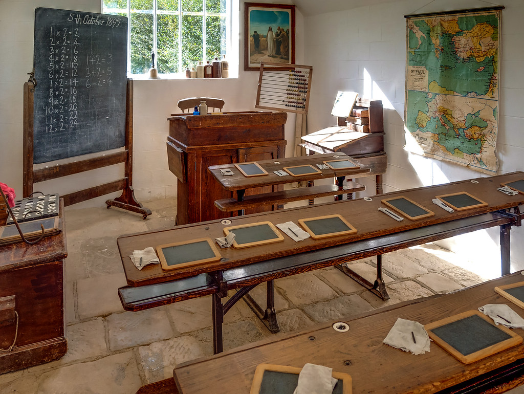 A Reconstruction Of A Victorian British Schoolroom At The