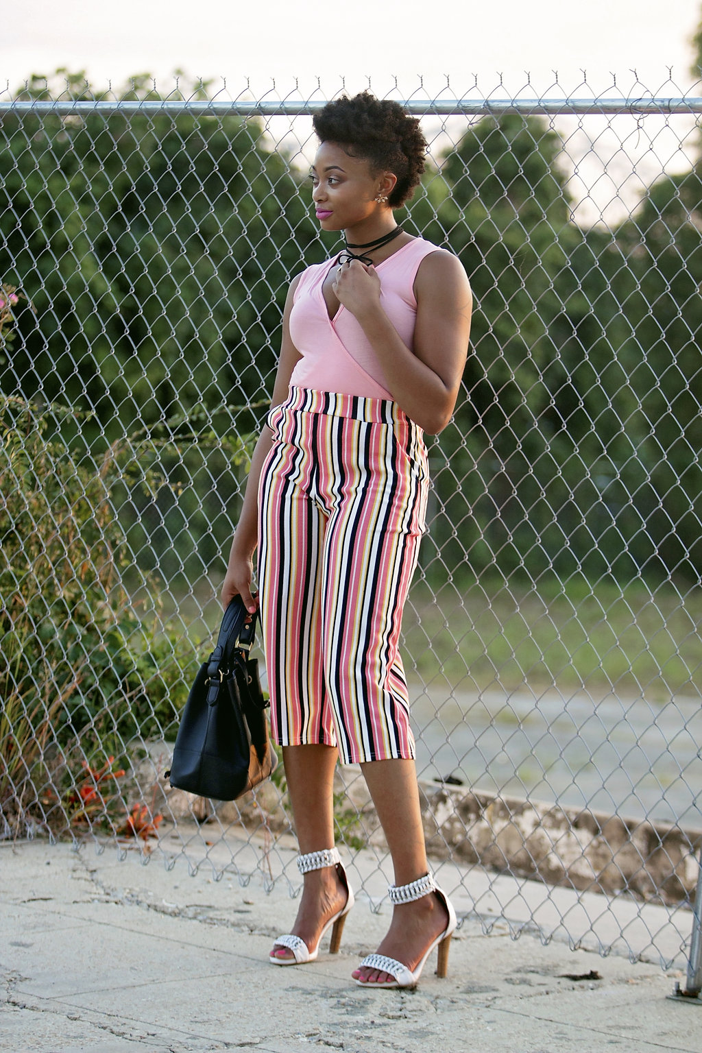 how to wear striped culottes, the beauty beau