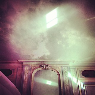 #mirror #molding #drama #cloud #double exposure #thought | by isabelmagowan