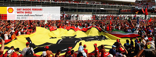 Facebook cover photo - Celebrating fans at the Italian Grand Prix 2012 | by Shell Motorsport