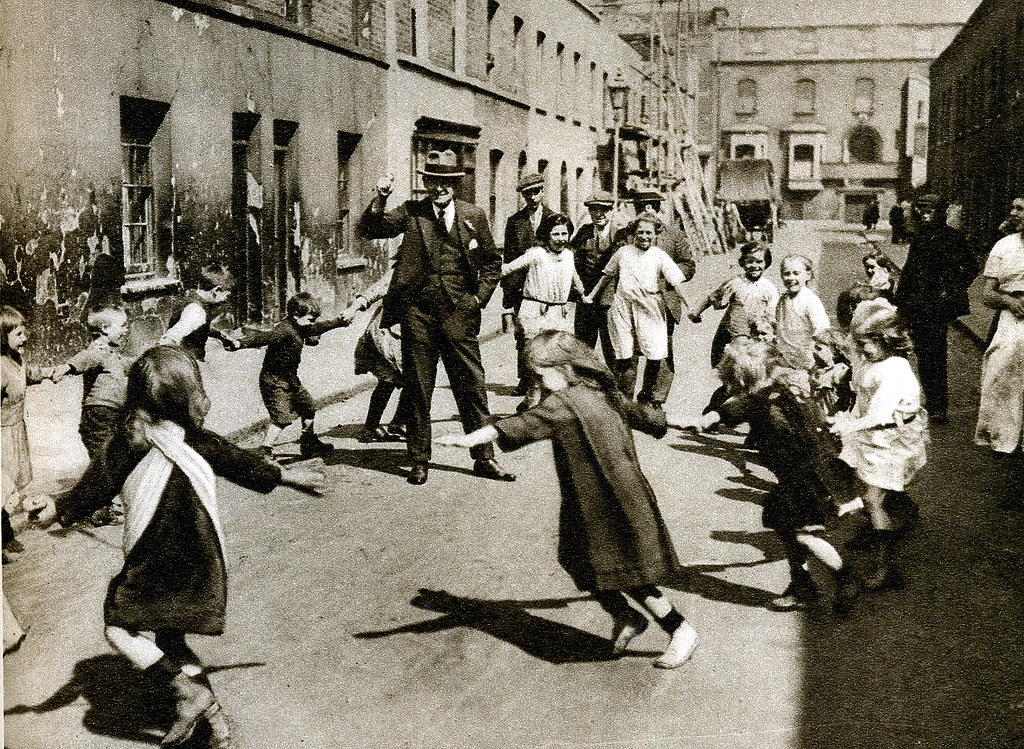 1920s Riots By Year: London In The 1920's-children At Play