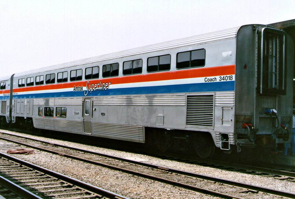 Amtrak Coach 34018 Last Car In The Amtrak Equipment