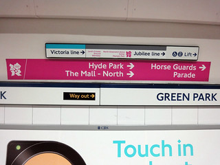 olympic wayfinding piccadilly line green park | by smallritual