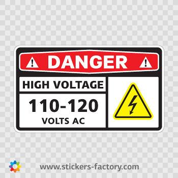 Danger-High-Voltage-110-120-Volts-AC-Sticker-Decal-14344   Flickr