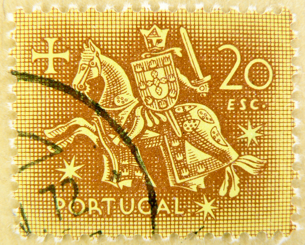 Great Old Portuguese Stamp Portugal 20 Esc Knight Seal O