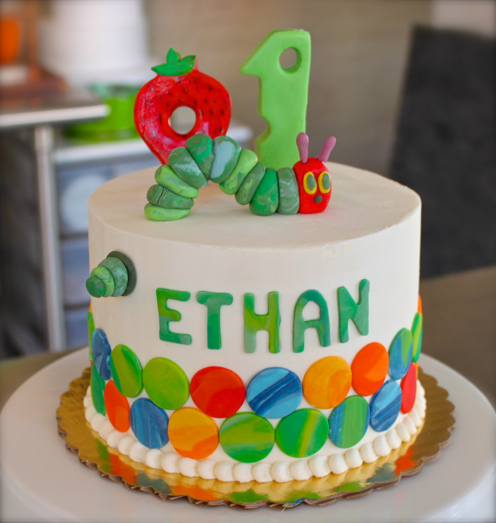 Hungry Caterpillar Cupcake Cake