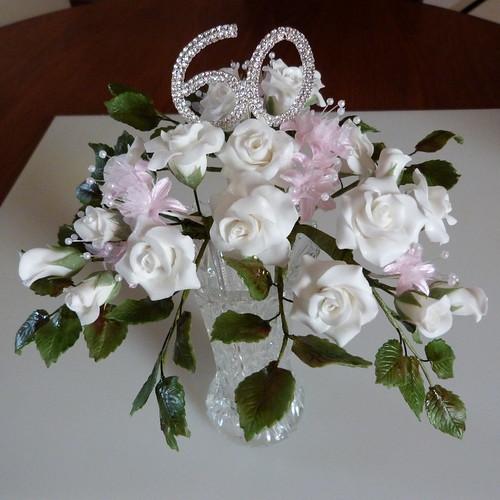 60th Anniversary Sugar Flowers 025 Making 60th Wedding Ann
