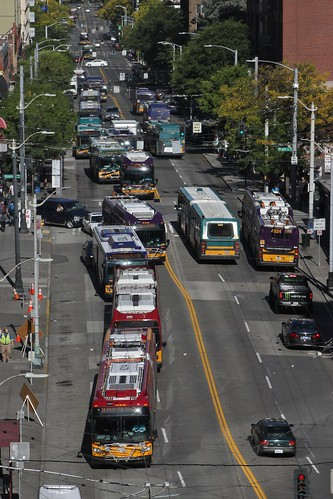 Line of buses on 3rd Avenue | by SounderBruce