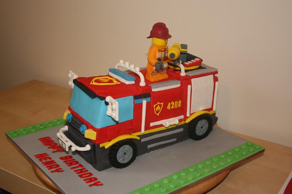 4x4 Fire Truck Birthday Cake I Henrys Cool Birthday Cake Flickr