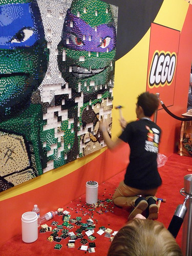 LEGO Booth TMNT Mural assembly | by fbtb