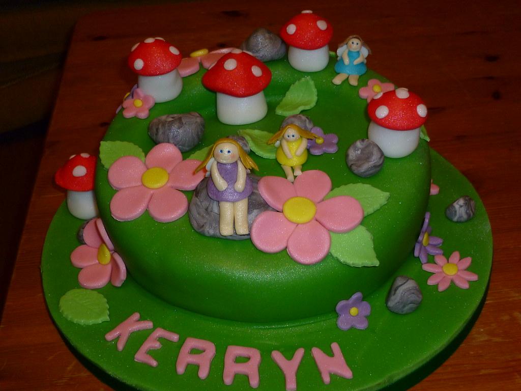 Fairy garden birthday cake Carved chocolate cake Flickr