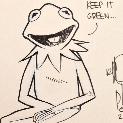 The day begins with a Kermit sketch at #halcon2012 | by theRAIDstudio