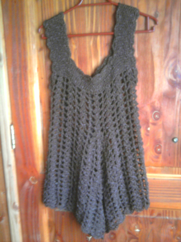 Vestido en crochet punto abanico