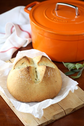 Dutch Oven Rustic Herb Bread | by Completely Delicious