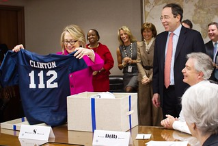Secretary Clinton Is Presented a Football Jersey | by U.S. Department of State