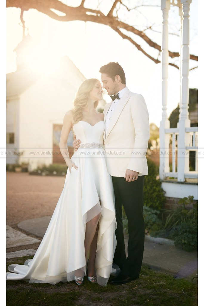 Martina Liana Sweetheart Corset And High Low Skirt Wedding
