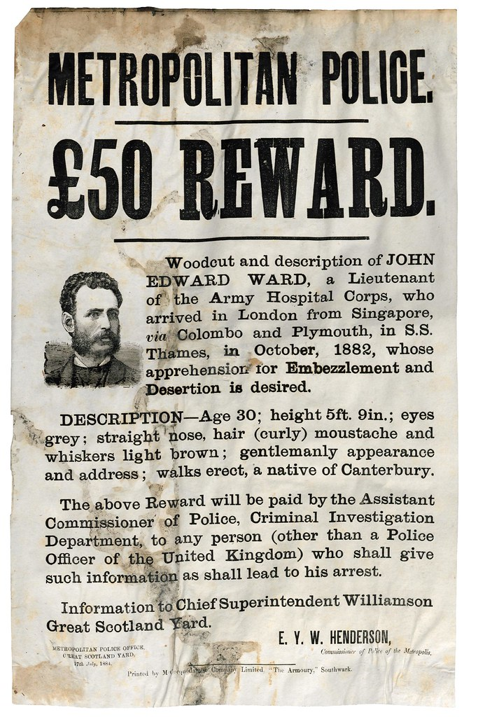 Wanted Thieves Forgers and Murderers of the Victorian Age – Wanted Criminal Poster