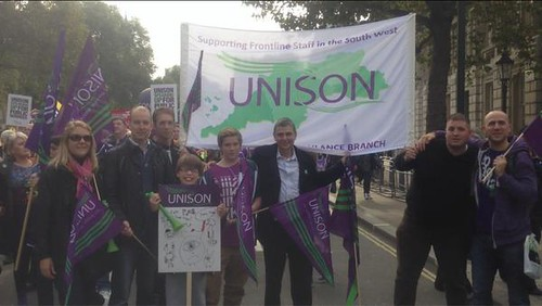 Dave Prentis and SW ambulance | by unisonpix