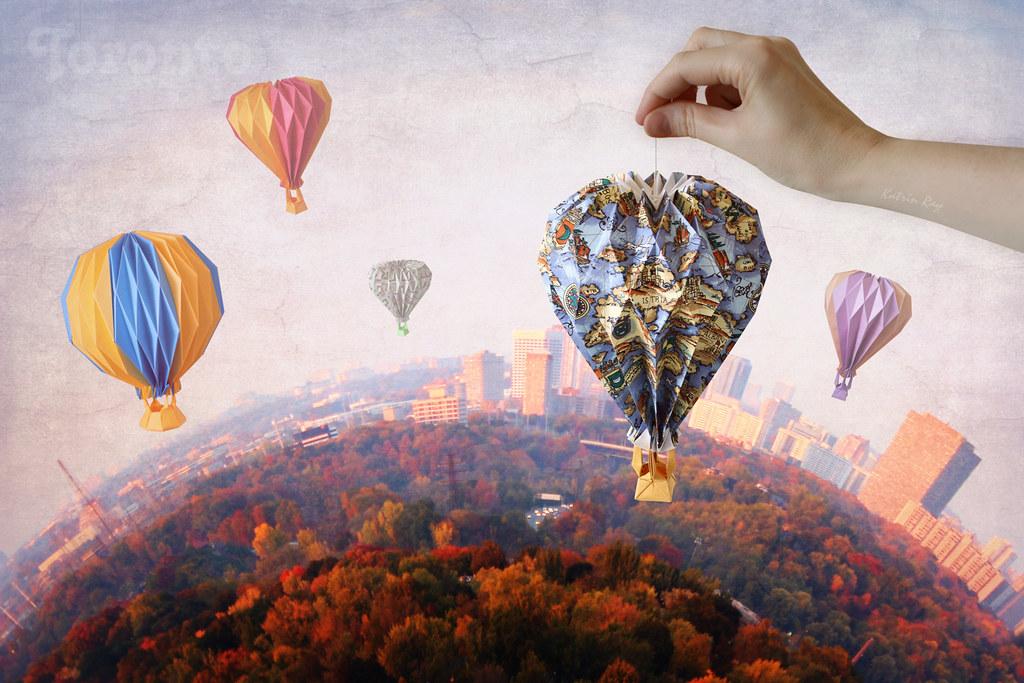 Origami Balloon Diagram Origami Balloon Ride Over